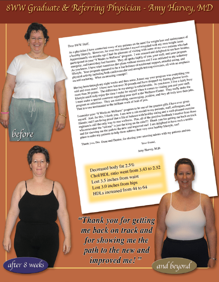 8 weeks to wellness testimonials Amy.